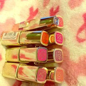 L'Oréal liquid lip colors set of 8 shades as shown